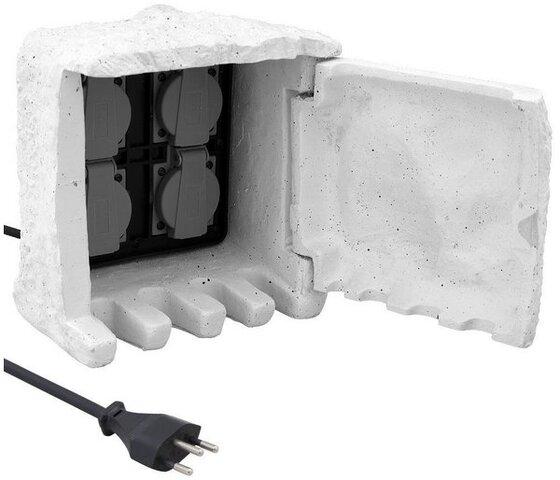 Elektromaterial Stein Stromverteiler 4xt13 5m Kabel Ip44